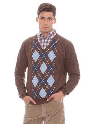 Gant Jersey Rombos (marrón)