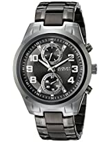 August Steiner Men's AS8173BK Analog Display Japanese Quartz Black Watch