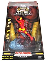 Hasbro Year 2007 Marvel Legends Titanium Series Die Cast Metal 5 Inch Tall Posable Action Figure Iron Man With Display Base