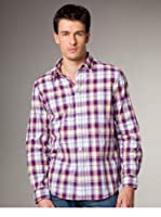 Jachs Camisa  Regular Fit (Lila / Gris / Blanco)