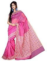 Asavari Cotton Saree (A15Anw-Bro-Ppl _Pink)