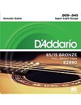 DAddario EZ890 Bronze Superlight Acoustic Guitar Strings