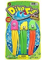Ja-Ru Dive Fun Pool Buddies Party Favor Bundle 8 pack, assorted colors