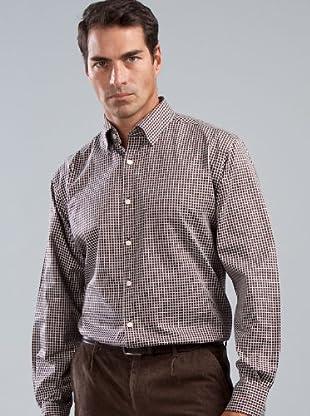 Cortefiel Camisa Cuadros (marrón)