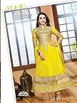 Karishma Kapoor Yellow Designer Anarkali Suit