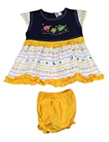 Ssmitn Baby Wear Yellow Denim Frock Frock For Girls