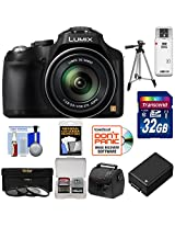 Panasonic Lumix DMC-FZ70 Digital Camera (Black) with 32GB Card + Battery + Case + 3 UV/FLD/CPL Filters + Tripod + Accessory Kit
