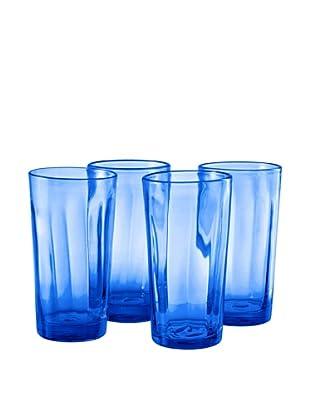Set of 4 Kassie Cobalt Hi-Ball Glasses
