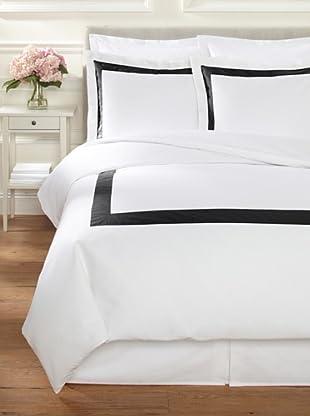 Belle Époque Birdseye Duvet Set (White/Black)
