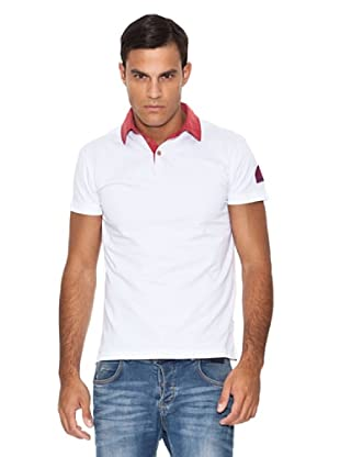 Armani Polo Bicolor (Blanco / Rojo)