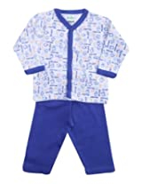 Baby Hug - Monster Print Front Opening Shirt and Legging Set