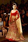 ALIA BHATT IN RED DESIGNER LEHENGA AT INDIA COUTURE WEEK