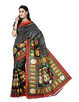 Ishin Bhagalpuri Silk Multicolor Saree