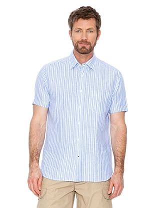 Cortefiel Camisa Rayas (Azul / Blanco)