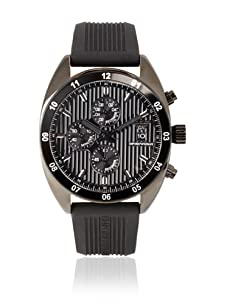 Emporio Armani Men's Black/Black Textured Silicone Watch