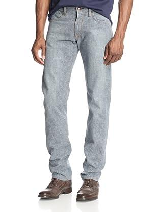 Agave Men's Rocker Classic Cut Tapered Zip Japanese Glen Plaid Jean (Grey)