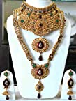 Gold full bridal choker set