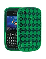 Amzer Back Cover For BlackBerry Curve 3G 9300/8520 (Green)