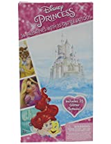 Disney Princesses Valentines 34 Cards With Tattoos Deluxe Ariel Rapunzel Cinderella Snow White Belle Aurora Tiana