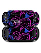 Sony Ps Vita Skin Twisted Garden Hot Pink And Blue By Wraptor Skinz