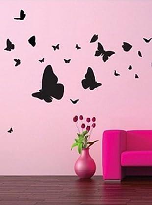 Vinilo Un elegane nue de mariposas - 40 piezas Negro