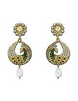 Zaveri Pearls Graceful Peacock Earring-ZPFK4480