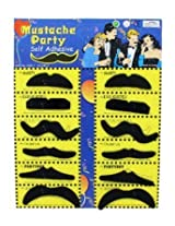 Blackcell Fake Mustache Party Novelty And Toy, Pack Of 36 Mustaches
