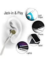 Molife Brand Premium Quality Music Handsfree With Microphone, Call & Music Controls (White)