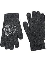 Romano Women's Grey Warm Winter Gloves