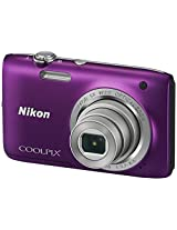 Nikon Coolpix S2800 20.1MP Point and Shoot Camera (Purple) with 5x Optical Zoom, Memory Card and Camera Bag