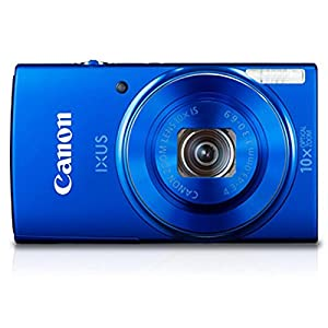 Canon IXUS 155 20 MP Point and Shoot Camera (Blue) with 10x Optical Zoom, Memory Card and Camera Case