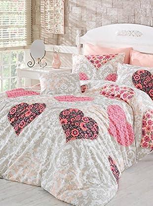 Colors Couture Bettdecke und Kissenbezug Love