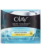 Olay White Radiance Advanced Whitening Brightening Intensive Cream Moisturiser SPF 24 PA ++ (50gm)