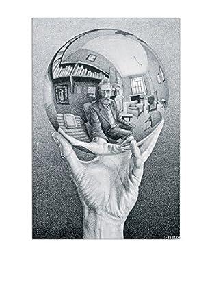 ArtopWeb Panel de Madera Escher Hand With Globe