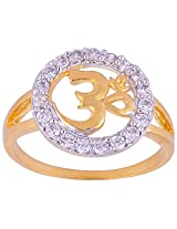 Vama Collections One Gram Gold Plated Omm Indian Size-12 Finger Ring For Women Men Children (f479)
