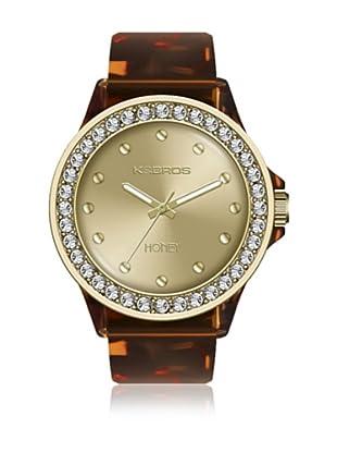 K&Bros  Reloj 9575 (Marrón)
