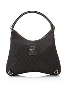 Gucci Women's Logo Hobo, Brown/Black