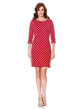 Cortefiel Kleid Gepunktet (Rot)
