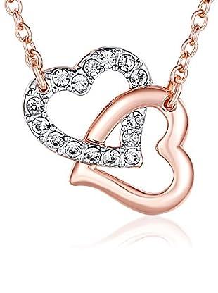 Lilly & Chloe Halskette Made with Swarovski® Elements rosévergoldet