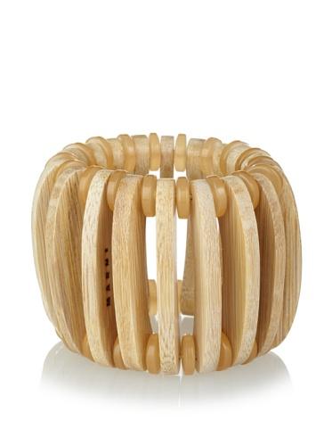 MARNI Women's Buttercream Wooden Stretch Bracelet