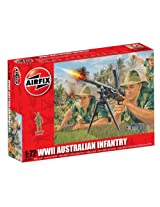 Airfix A01750 WWII Australian Infantry Building Kit, 1:72 Scale
