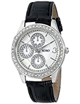 XOXO Women's XO3042 Black Leather Strap Watch