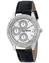 XOXO Women's XO3042 Black Leather Strap Watch