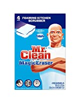 Mr Clean Magic Eraser Kitchen & Dish Scrubber, 4 Count