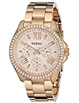 Fossil Women's AM4483 Cecile Analog Display Analog Quartz Rose Gold Watch