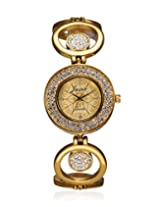 JAINX Analogue Yellow Dial Women's Watch - JW512