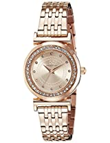 Gio Collection Analog Champagne Dial Women's Watch - G2014-33