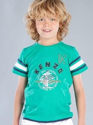 Kenzo Kids Camiseta Franjas (Verde)