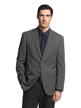 Jack Victor Studio Men's Striped 2-Button Sportcoat (Black)