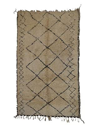Hotel Marrakeche One of a Kind Hand Knotted Moroccan Rug, Natural, 6' 6
